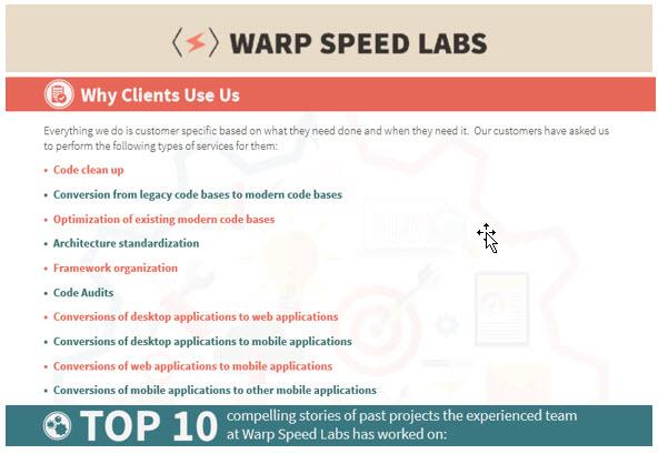warpspeed-labs-choice-website
